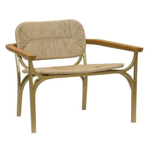 Kelmscott Rush Lounge Chair in Natural
