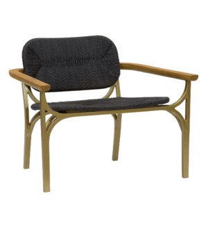 Kelmscott Lounge Chair in Black