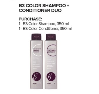 BBB B3 COLOR SHAMPOO + CONDITIONER DUO