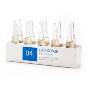 BIOTOP 12 HAIR REPAIR (PLACENTA IMPACT) TREATMENT - 10 AMPS