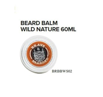 BRAVE AND BEARDED WILD NATURE BEARD BALM 60ML