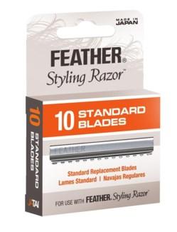 FEATHER RAZOR BLADES/PKG 10