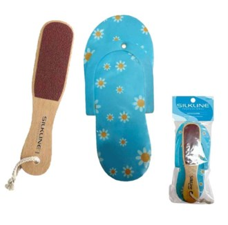 DA SL TWO-SIDED FOOT FILE W/ FOAM SLIPPER DUO