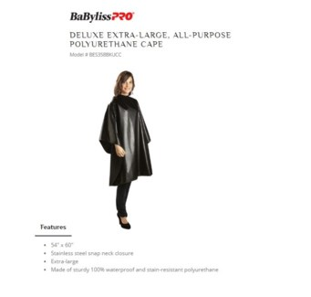 DA BP DELUXE ALL PURPOSE CAPE W/ SNAP BLACK
