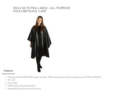 DA BP XL DELUXE ALL PURPOSE CAPE BLACK