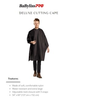DA BP DELUXE CUTTING CAPE BLACK