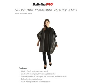 DA DELUXE ALL PURPOSE VINYL CAPE