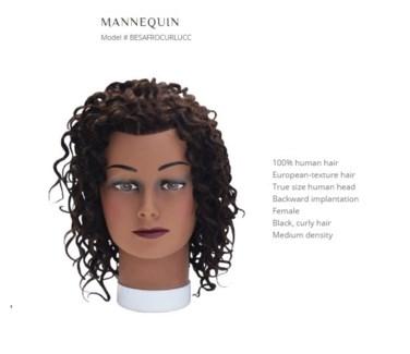 DA BP CURLY HAIR MANNEQUIN BLACK