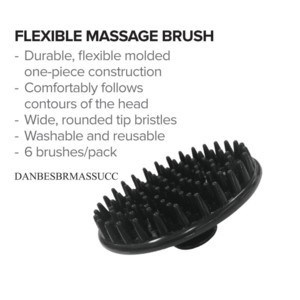 DA BP FLEXIBLE MASSAGE BRUSHES 6/PACK