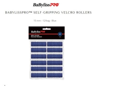 DA BP SELF GRIPPING VELCRO ROLLERS BLUE/15MM BAG OF 12