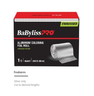 DANNYCO BP EMBOSSED 1LB SILVER FOIL - HEAVY- 295FT