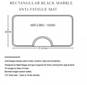 DA 3'X5' RECTANGULAR MAT  - BLACK MARBLE