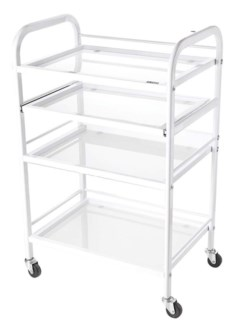 DA SILKLINE SPA TROLLEY WITH TEMPERED GLASS SHELVING