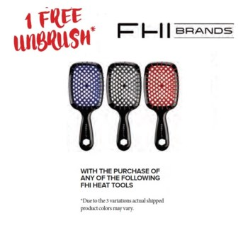 FHI FREE UNTANGLE BRUSH WITH SELECT FHI HEAT TOOL//ND'18