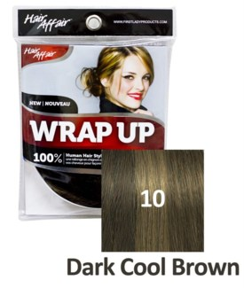 FIRST LADY HAIR AFFAIR WRAP UP #10 DARK COOL BROWN