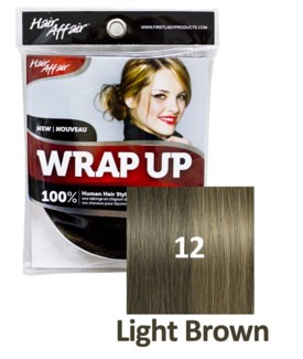 FIRST LADY HAIR AFFAIR WRAP UP #12 LIGHT BROWN