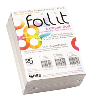 FOIL IT EXTREME SOFT SILVER FOIL MEDIUM 5 X 7 1000/SHEETS