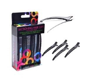 FO RUBBERBAND SECTIONING CLIPS BLACK 4 PACK