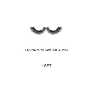 KASINA MINK LASHES - A - Pink - 1 SET
