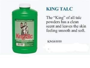 KR KING TALC POWDER 9OZ //NEW