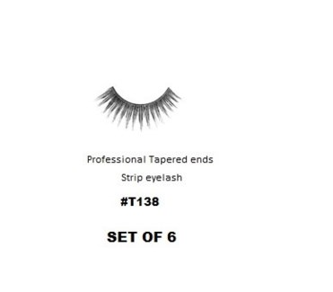 KASINA PRO LASH - TAPERED ENDS - STRIP EYELASH #T138-6 SETS