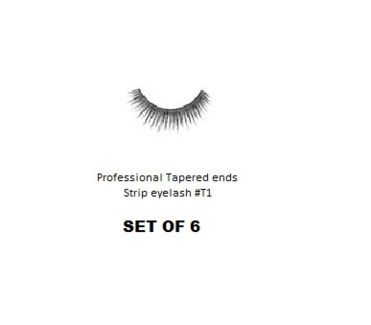 KASINA PRO LASH - TAPERED ENDS - STRIP EYELASH #T1-6 SETS