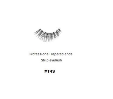KASINA PRO LASH - TAPERED ENDS - STRIP EYELASH #T43-1 SET
