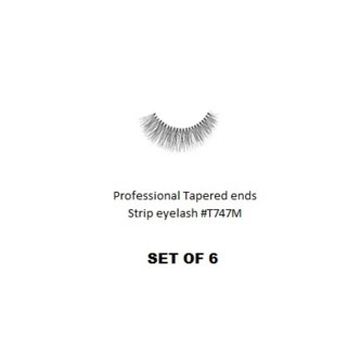 KASINA PRO LASH - TAPERED ENDS - STRIP EYELASH #T747M-6 SETS