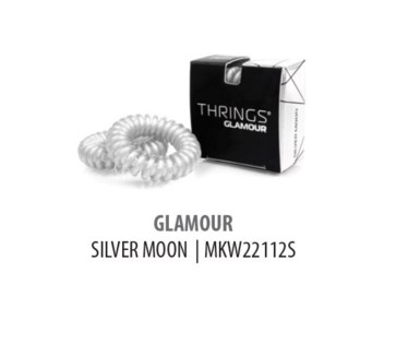 THRINGS - HAIR RINGS - GLAMOUR - SILVER MOON - 2PC