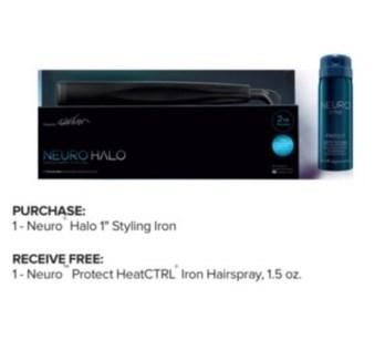 """PM NEURO HALO 1"""" STYLING IRON (450)"""