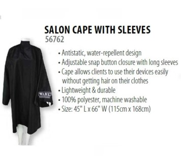 WAHL SALON CAPE WITH SLEEVES