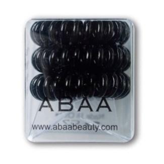 ABAA HAIR RING (SET OF 3) BLACK