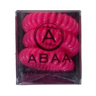 ABAA HAIR RING (SET OF 3) PINK