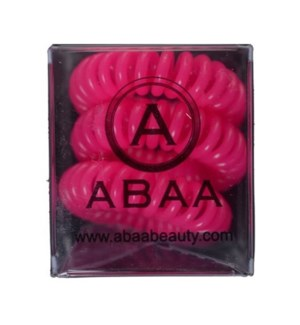 ABAA HAIR RING (SET OF 3) PINK