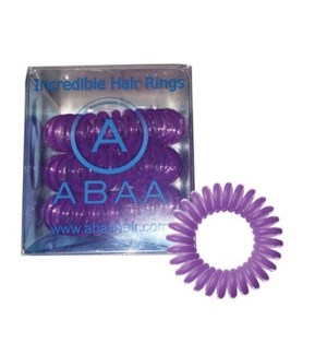 ABAA HAIR RING (SET OF 3) PURPLE