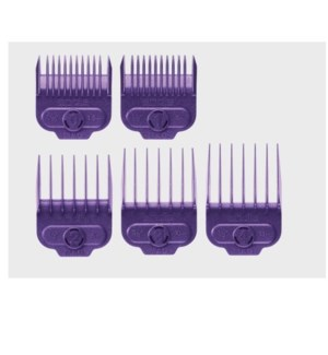 ANDIS 5PC MAGNETIC COMBS (PURPLE)
