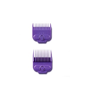 ANDIS 2 PK SINGLE MAGNETIC COMB SET - PURPLE