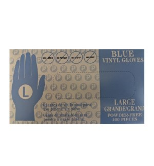 SOLD OUT// BLUE VINYL GLOVES DISPOSABLE - LARGE