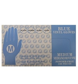 SOLD OUT// BLUE VINYL GLOVES DISPOSABLE - MEDIUM