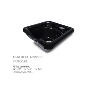 BE 2800 BETA ACRYLIC SHAMPOO BOWL