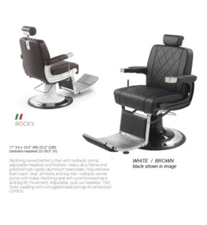 BE ROCKY WHITE/BROWN (BARBER CHAIR)