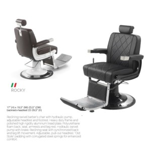 BE ROCKY BLACK (BARBER CHAIR)
