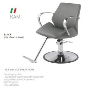 BE KAMI (HI BLACK) SWIVEL STYLING CHAIR