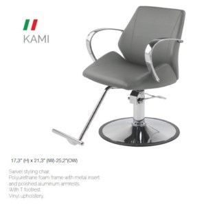 BE KAMI (LOW GREY) SWIVEL STYLING CHAIR