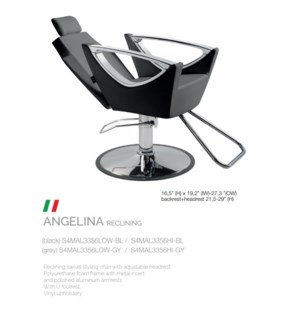 BE ANGELINA RECLINING (HIGH BLACK) SWIVEL STYLE CHAIR