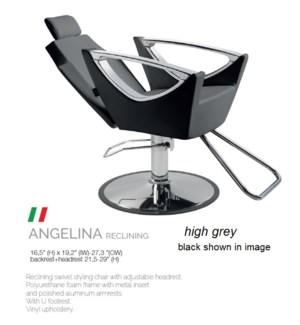 BE ANGELINA RECLINING (HIGH GREY) SWIVEL STYLE CHAIR