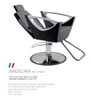 BE ANGELINA RECLINING (LOW BLACK) SWIVEL STYLE CHAIR
