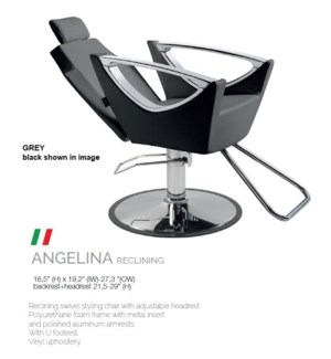BE ANGELINA RECLINING (LOW GREY) SWIVEL STYLE CHAIR