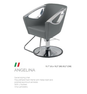 BE ANGELINA (HIGH GREY) SWIVEL STYLE CHAIR