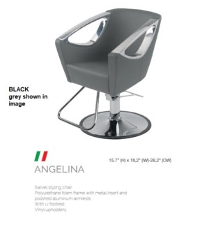 BE ANGELINA (LOW BLACK) SWIVEL STYLE CHAIR